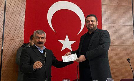 Başkan Volkan ŞEKER'e Teşekkür Belgesi
