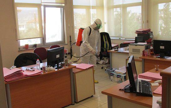 Belediyemizce Koronavirüsle mücadele çalışmaları sürüyor