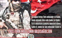 """""""Yüce Türk Milletinin Başısağolsun"""""""